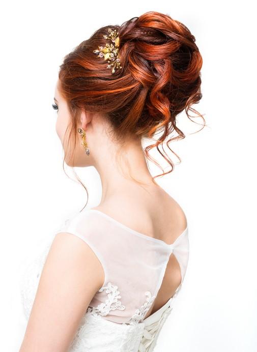 Peinados novia recogido alto