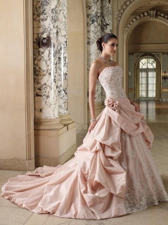 vestidos de novia en rosa primavera verano 2019 - blogmujeres