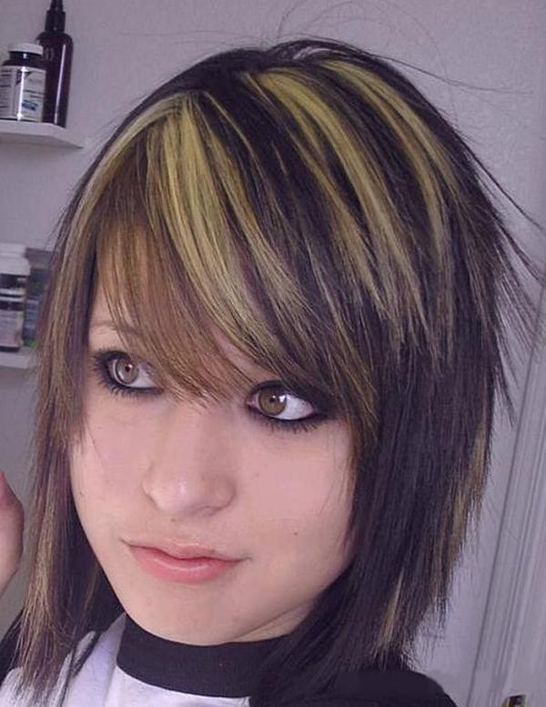 Corte de pelo largo estilo angel