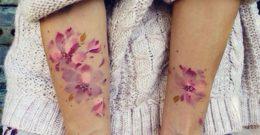 Los tatuajes de acuarela para mujeres – Fotos
