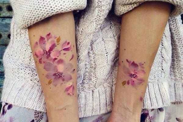 Los tatuajes de Acuarela para mujeres - Fotos