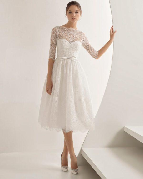 Imagenes de vestidos de novia cortos con encaje