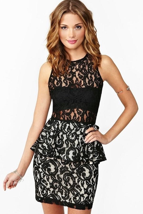 vestidos-de-fiesta-cortos-de-encajes-negro