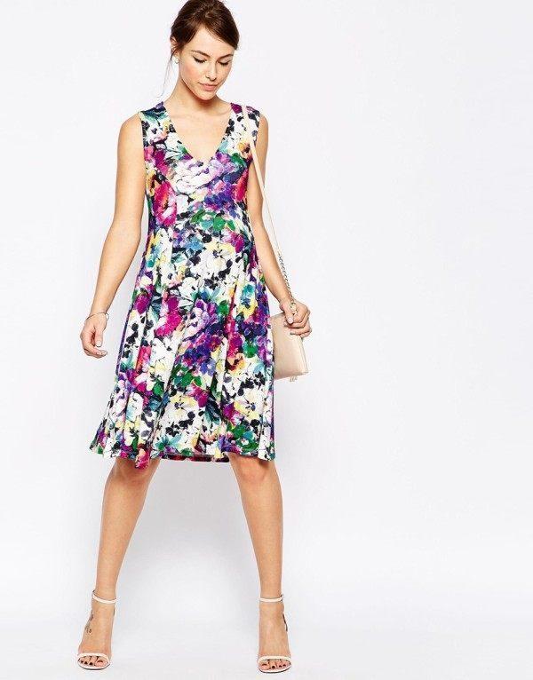 vestidos-de-fiesta-cortos-otono-invierno-premama-flores