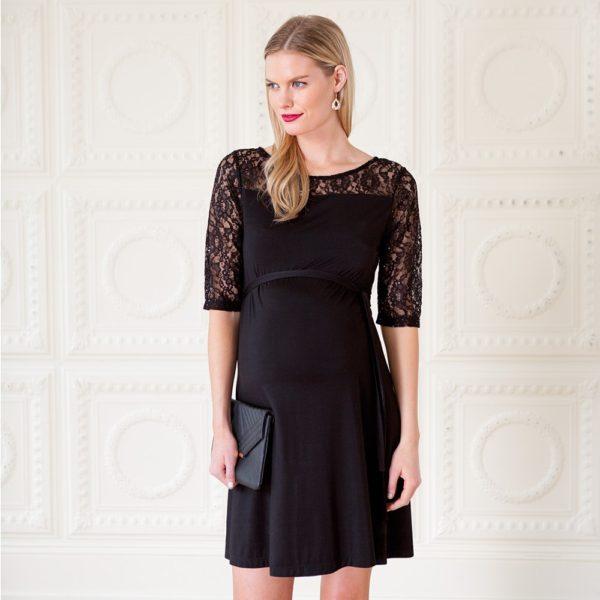 vestidos-de-fiesta-cortos-otono-invierno-premama-negro