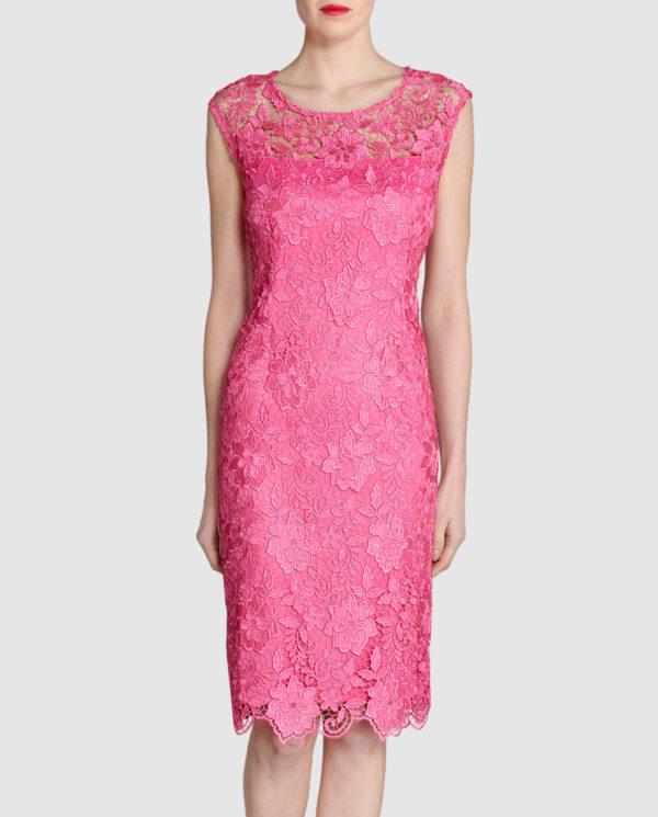 vestidos-de-fiesta-el-corte-ingles-coctel-gina-bacconi-rosa-encaje