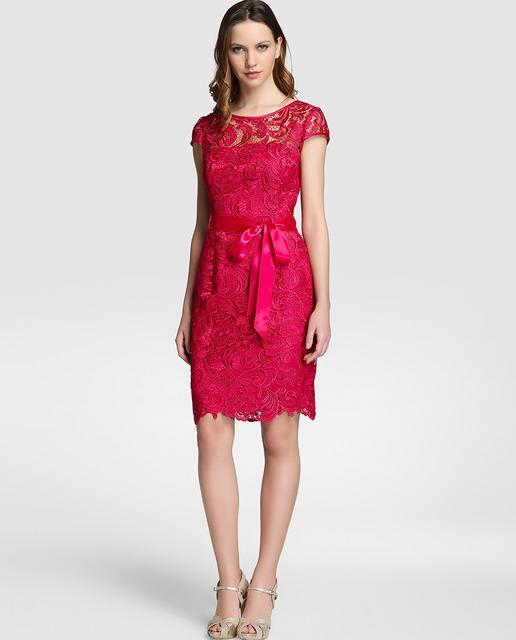 vestidos-de-fiesta-el-corte-ingles-encaje-rosa-con-lazo