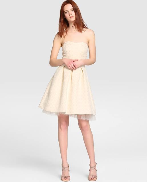 Vestido fiesta blanco corte ingles