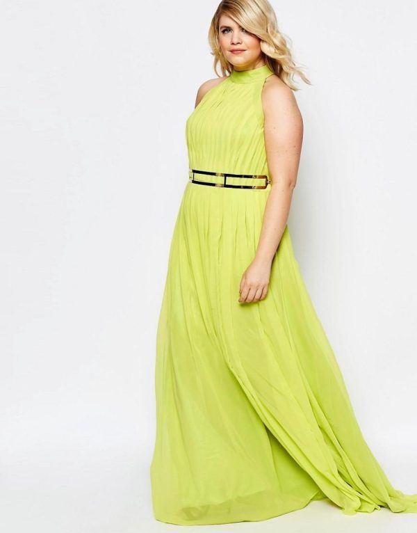 vestidos-de-fiesta-tallas-grandes-otono-invierno-2017-amarillo