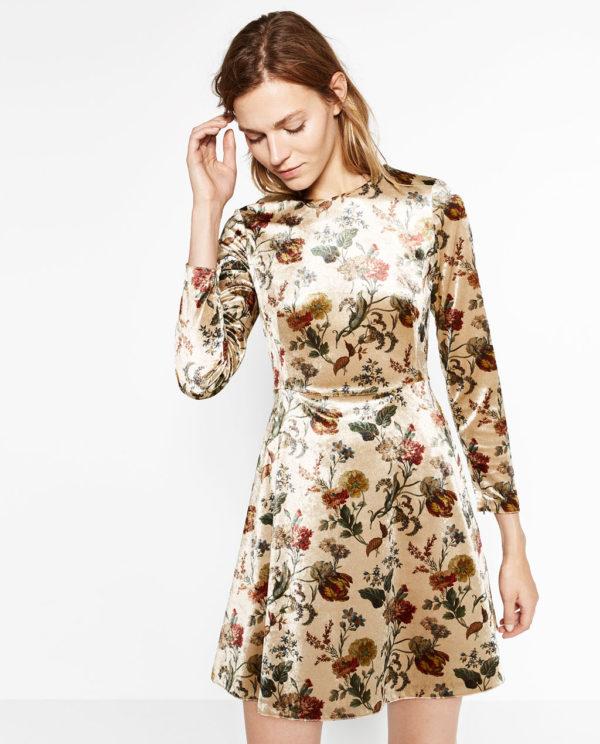vestidos-de-fiesta-zara-otono-invierno-2017-estampado-terciopelo