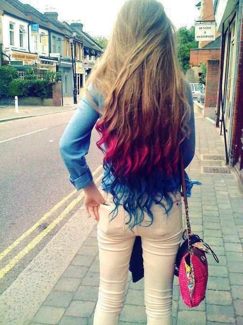 mechas-californianas-de-colores-tres-colores