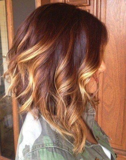 mechas-californianas-media-melena-ondas-cobre