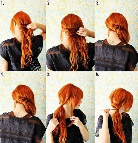 peinados-faciles-paso-a-paso-otoño-invierno-2017-coleta-lateral