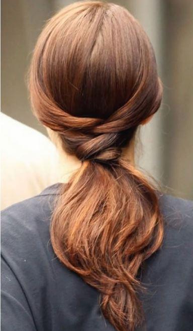 peinados-faciles-pelo-largo-coleta-nudo