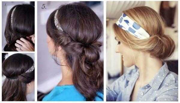 Peinados faciles con cabello largo recogido