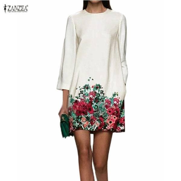 vestidos-de-comunion-para-madres-blanco-suelto-flores-bajo