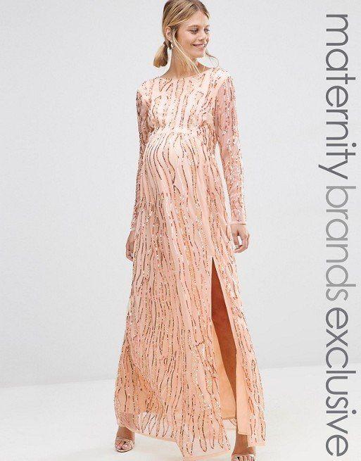 vestidos-de-fiesta-premama-para-embarazadas-asos-largo-manga-larga-transparente