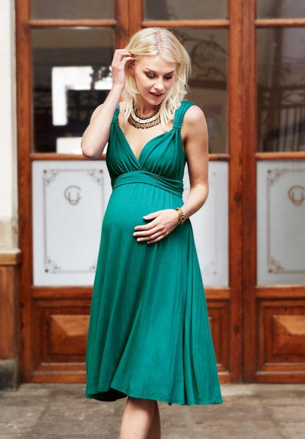 7735c6fa4 Vestidos de fiesta premamá para embarazadas Primavera Verano 2019 ...