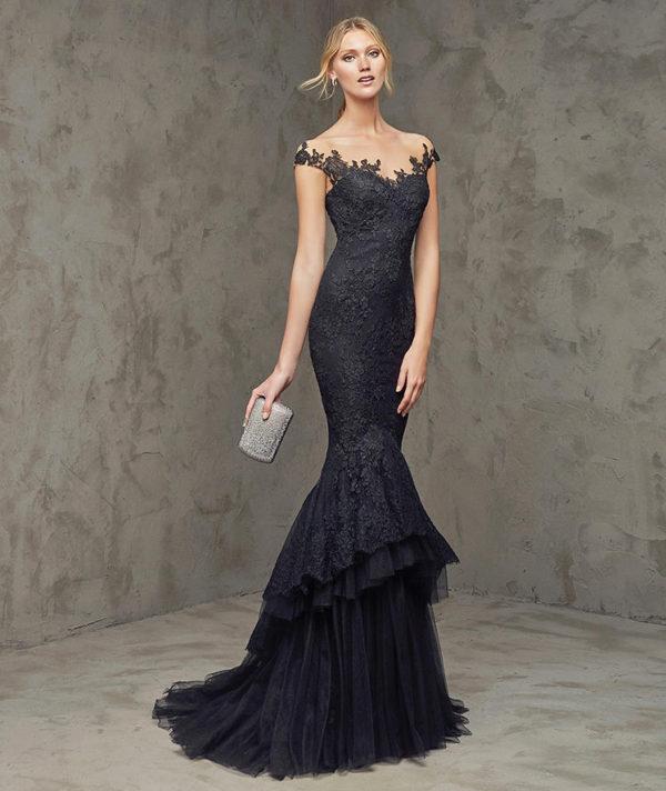 vestidos-de-fiesta-pronovias-fluvial-negro-encaje