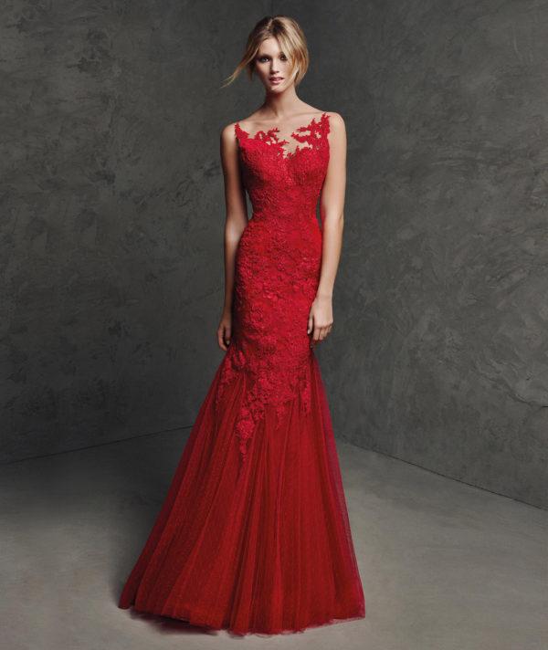 vestidos-de-fiesta-pronovias-laural-rojo
