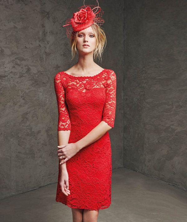 vestidos-de -fiesta-rojos-cortos-pronovia-lalis