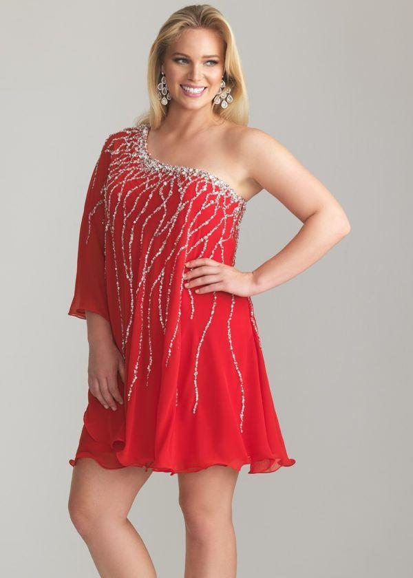vestidos-de -fiesta-rojos-cortos-talla-grande-lentejuelas