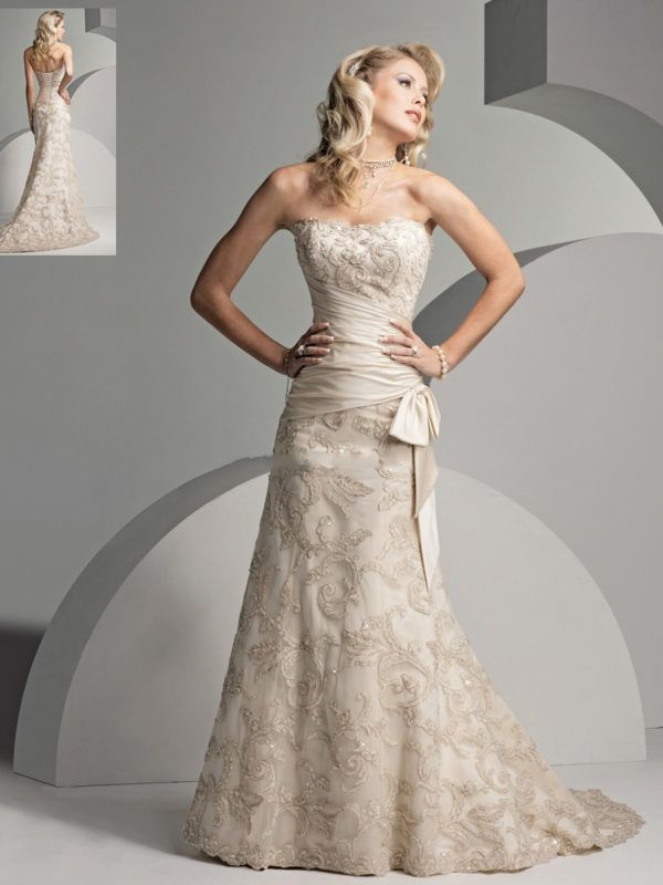 Vestidos de novia de colores largos