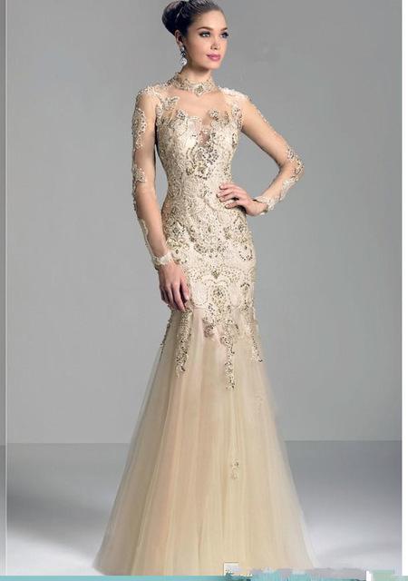 vestidos-de-novia-corte-sirena-encaje-champagne