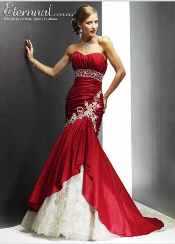 vestidos-de-novia-corte-sirena-granate