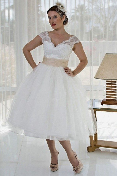 Vestidos novia cortos gorditas