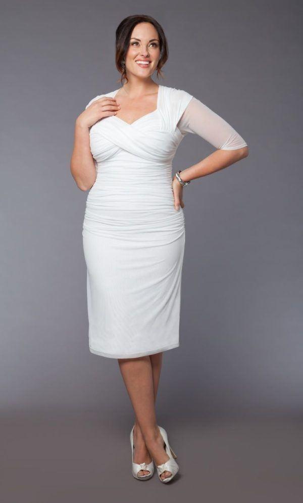 vestidos-de-novia-para-gorditas-corte-corto-drapeado