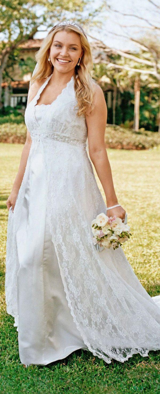 Vestidos de novia con encaje para gorditas
