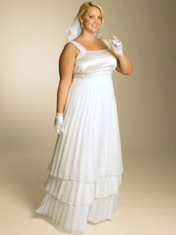wedding-dresses-for-chubby-empire-cut-satin
