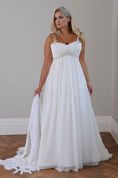wedding-dresses-for-chubby-empire-court