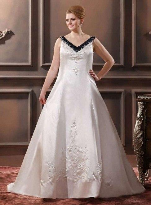 Vestidos de novia corte imperio para gorditas