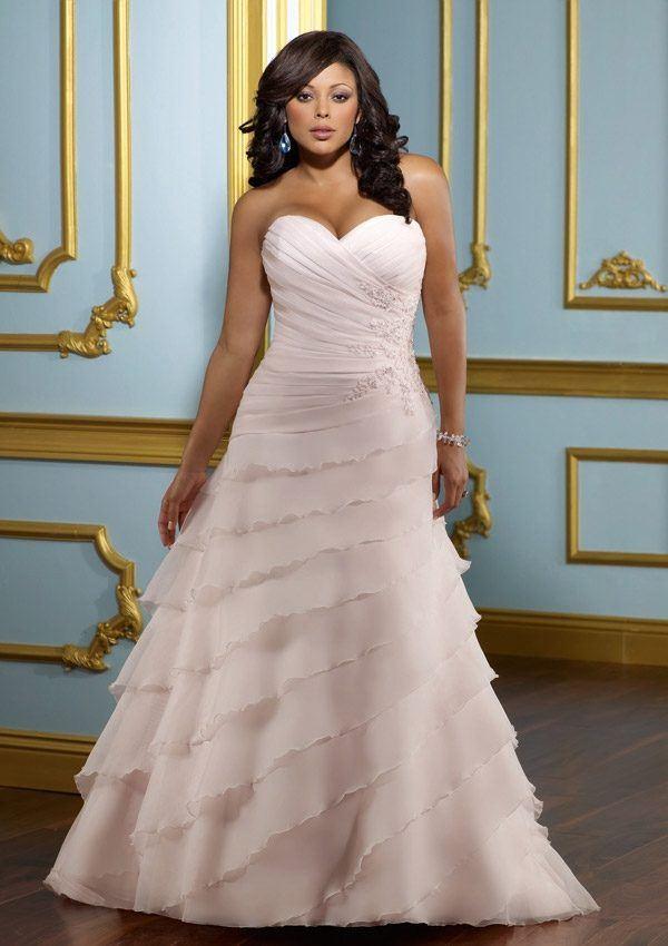 wedding-dresses-for-chubby-princess-cut-pink