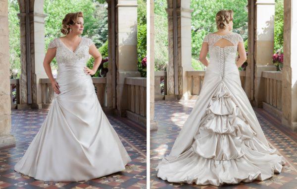 Vestidos de novia para mujeres anchas de espalda
