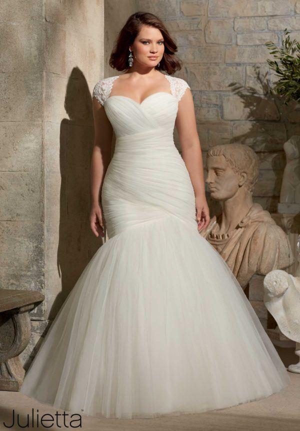 vestidos-de-novia-para-gorditas-sirena-drapeado