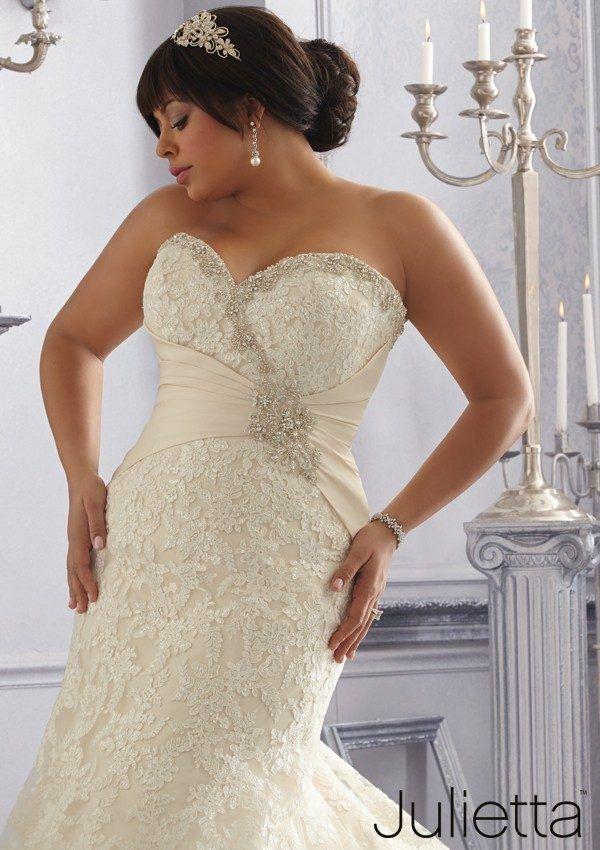 wedding-dresses-for-chubby-mermaid-sash