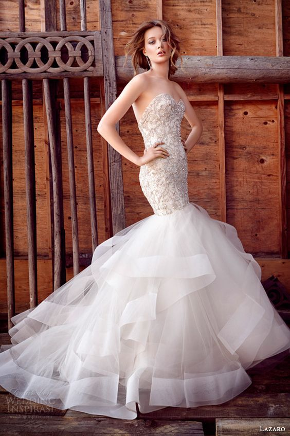 Vestidos de novia con corte sirena