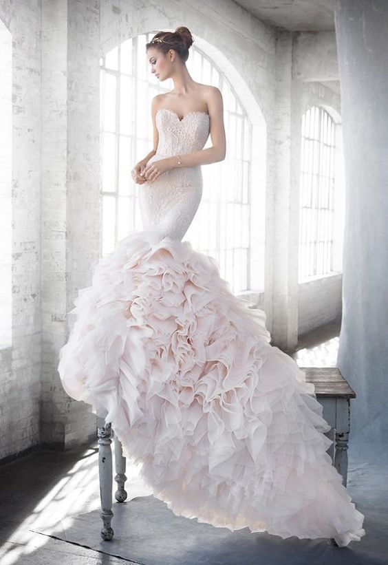 vestidos de novia corte sirena primavera verano 2019 - blogmujeres