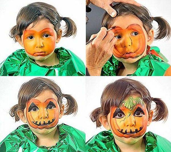 maquillajes-halloween-ninos-calabaza-paso-a-paso