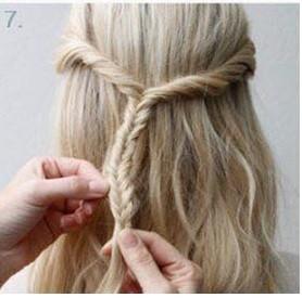 peinados faciles pelo largo diadema retorcido 7 - Peinados Fciles