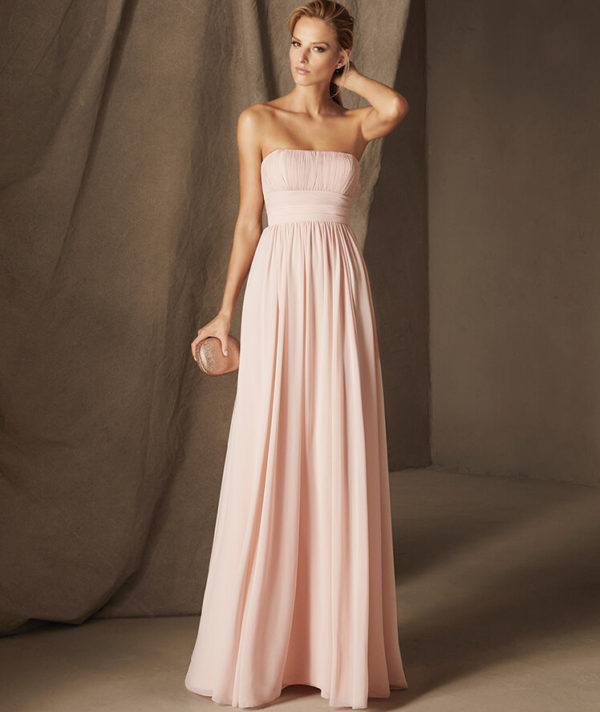 Vestidos de fiesta rosa palo 2019