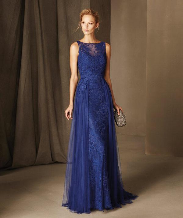 Vestidos de noche azul cobalto