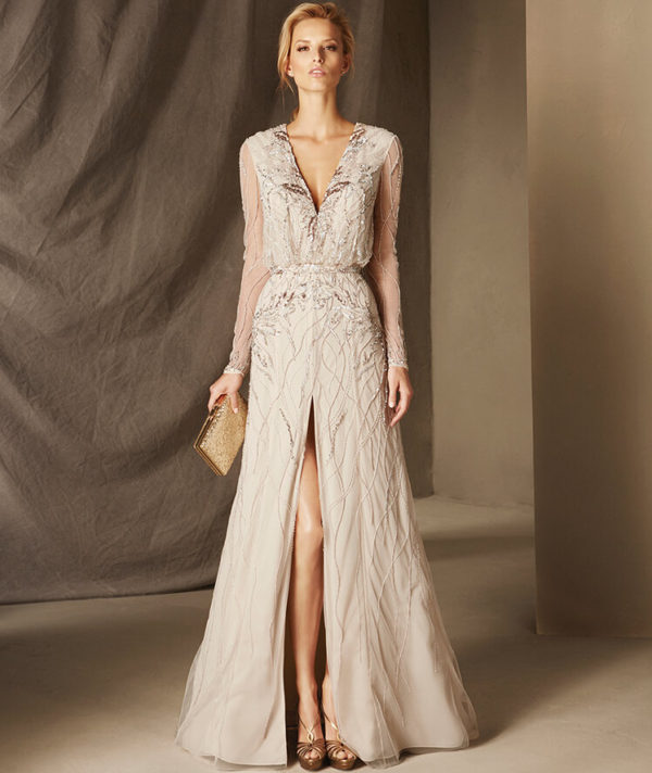 Vestidos de noche largos para boda pronovias