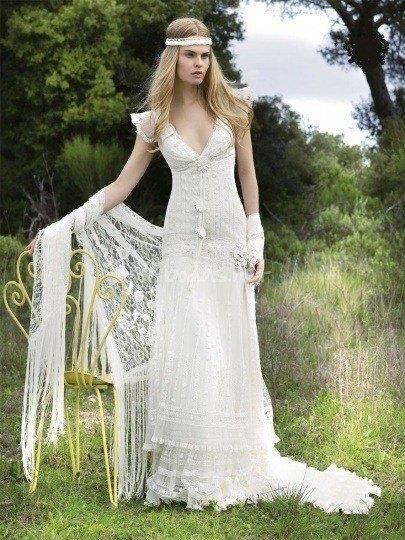 vestidos de novia hippies primavera verano 2019 - blogmujeres