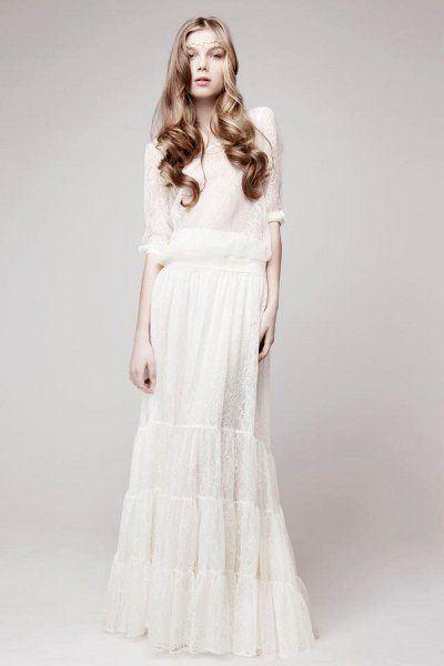 vestidos-de-novia-hippies-otono-invierno-2017-sencillo-mangas-tres-cuartos