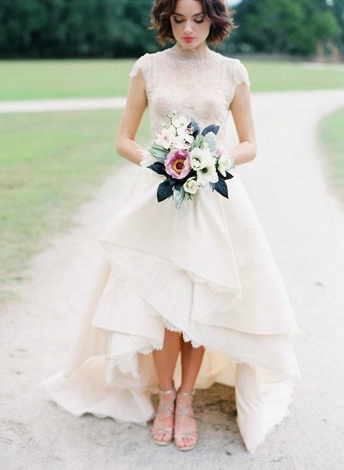 Vestidos de novia para novia boda civil primavera verano for Boda en jardin vestidos