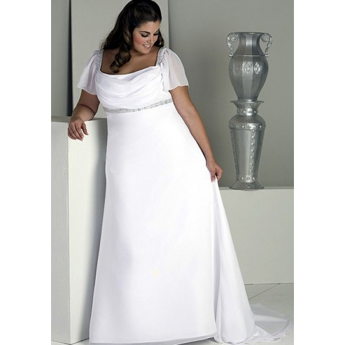 wedding-dresses-for-chubby-square-neckline